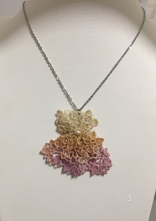 【A Lace water lace】 dance clothes necklace 3-4
