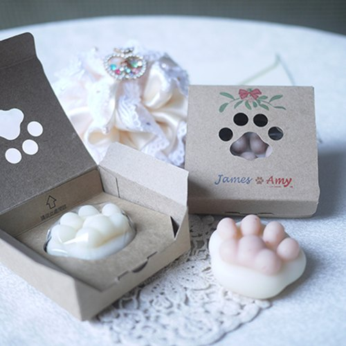 Customized Order  - MINI Cat Paw Soap - Black / White