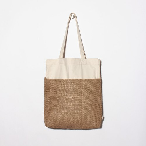 Five-cell bag is particularly easy to use canvas bag - rattan style
