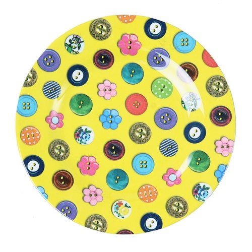 "Button 8 ""disc - Yellow"