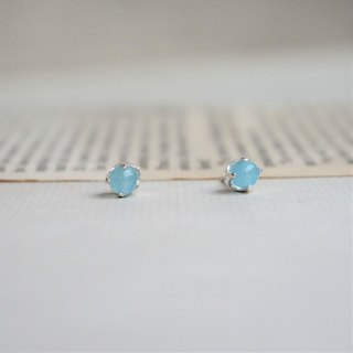 << March Birthstone - Water Blue Agate Earrings>> Birthstone Earrings Birthstone