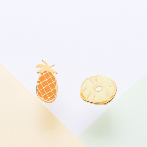Wang to | canned pineapple handmade earrings