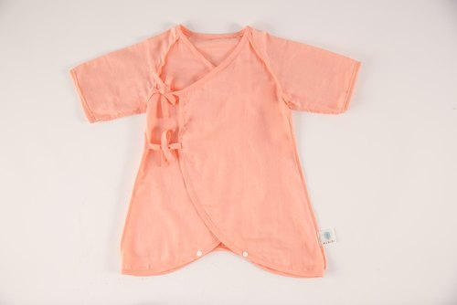 MARURU Nippon gauze colorful clothes (red peach) 60-70cm