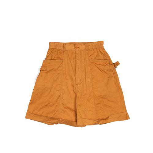 [Egg plant ancient] orange juice high waist ancient shorts