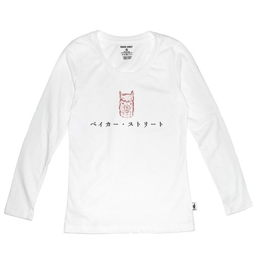 British Fashion Brand [Baker Street] Japanese Stamp Printed Long Sleeve