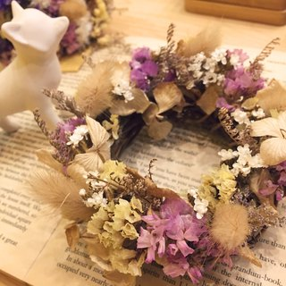[Dried flowers] stars small wreath Limonium Wreath birthday gift wedding