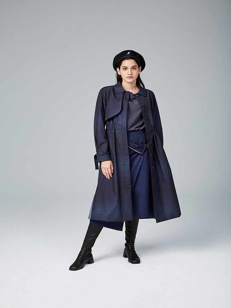 百褶造型風衣洋裝(20W1DS01BU0010F)