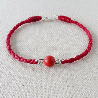 Fashion [Lucky Stone] cinnabar silk wax bracelet [four shares] evil spirits, drive, and fortune