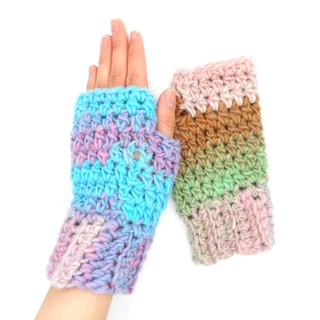 "Handwarmer ""colorful"" 【crochet / handmade】"