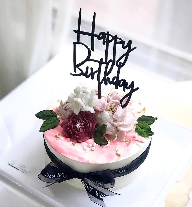 【母親節蛋糕】酒紅系列-韓國最夯裱花輕乳酪蜂蜜蛋糕
