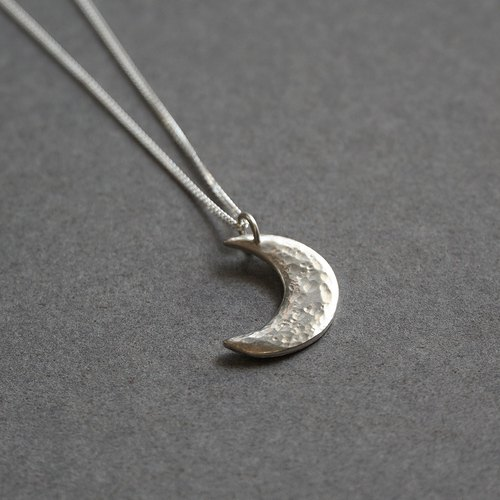 Crescent Silver Necklace feel