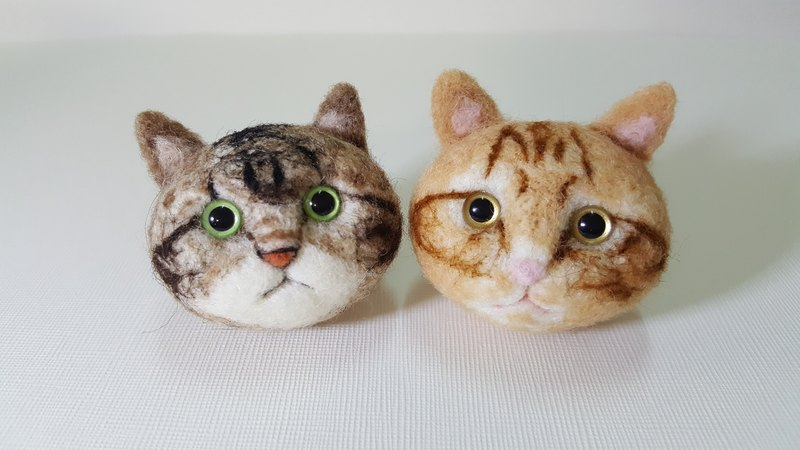 Wool felt the bulk of Meng Q version of the small cat Tabby Meeks Hamburg full / full solid models key ring / pin area