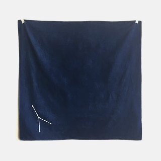 [Note] the age of the moon and stars series vegetation dyed blue dye / batik multifunction towel - Constellation furoshiki