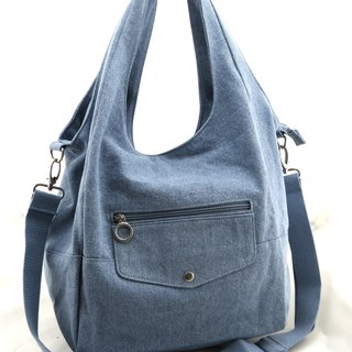Love denim washed denim bag --- light blue (washed cowboy)