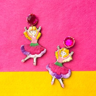 Dancing Little me hand printing Embroidery earring flora dress