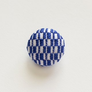 Embroidery Brooch Pin Accessories Blue