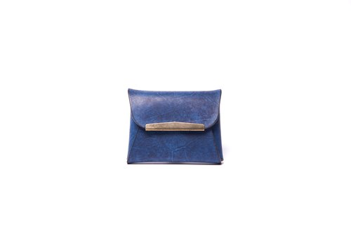 Hiker / Italy leather - coin purse (Navy blue)