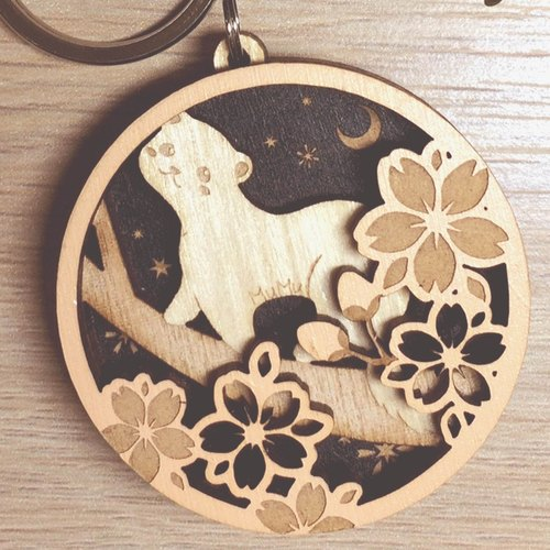MuMu Sweety ✿ ferrets cherry blossom season / key ring