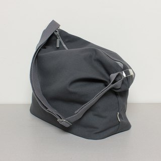 Dumpling bag Tote bag Large capacity Daily Super easy to use - Dark Grey