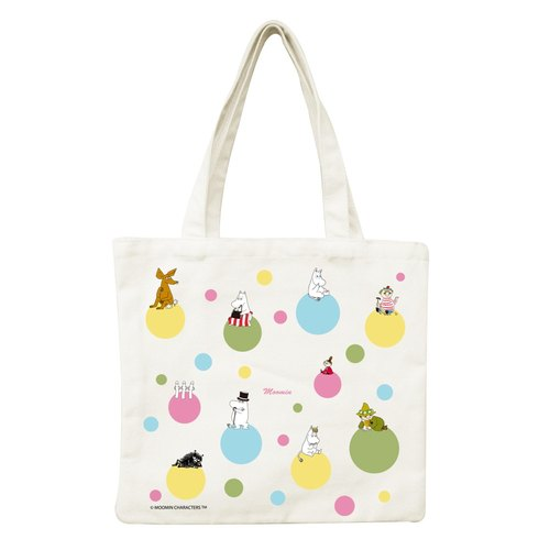 Moomin Moomin authorization - a small canvas bag: [Rainbow Bubble]
