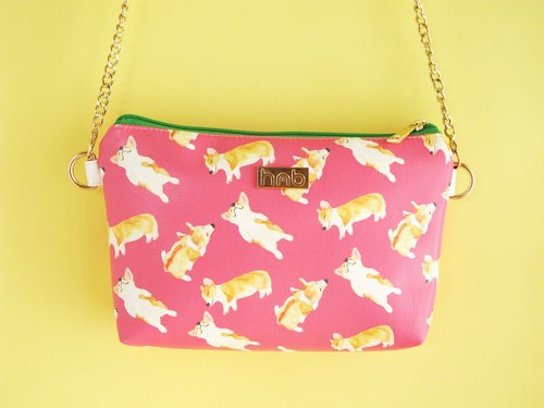 Bau Bau Corgi Cross Body Clutch Bag