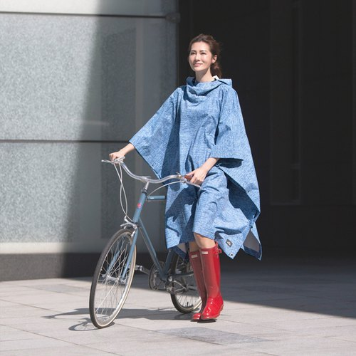 【MORR】 Picnic classic waterproof cloak - blue tannin _ outdoor camping best equipped
