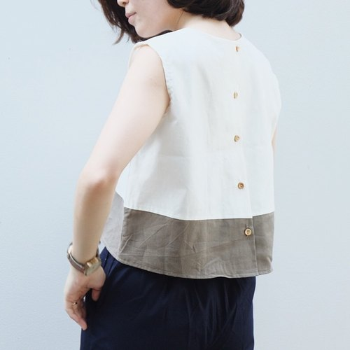 Two-Tone Sleeveless Top
