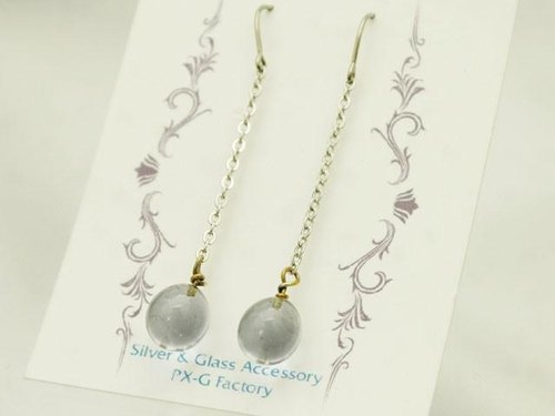 Chain drop earrings Violet clear of
