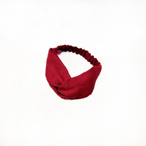 【Cash】 handmade linen red hair band