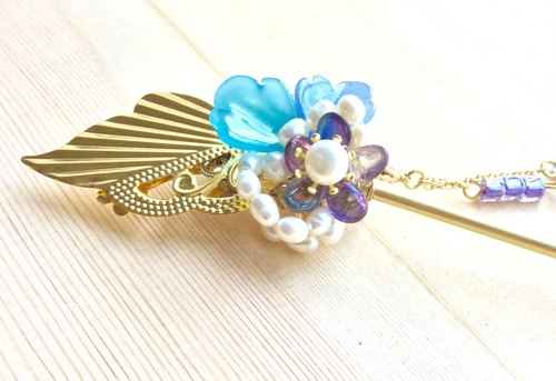 Meow hand ~ golden wave single hairpin