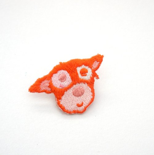 Orange Orange MIX embroidery pin / patch