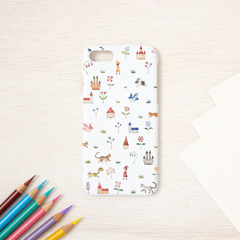 "Fragments of a picture book. Smartphone case ""The country of dwarf and animals"" SC-292"