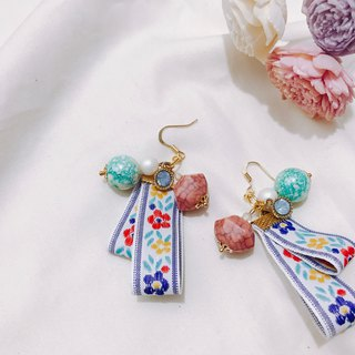 Summer fireworks hanging earrings ear hook ear clip