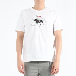 Mad Cow Disease - Cow Knight Print Tee (White)