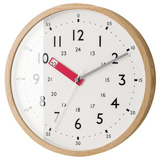 Storuman- 24H learning mute clock wall clock (red)
