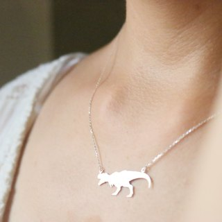 <☞ HAND IN HAND ☜> Silver - Tyrannosaurus necklace (0812)