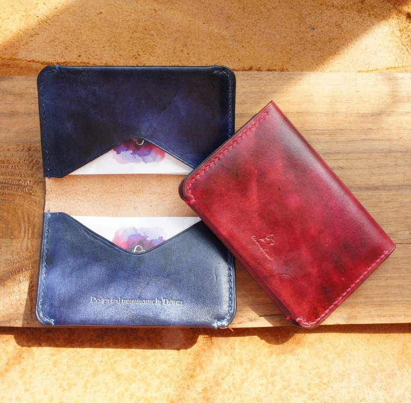 Dyeing Series-Retro Dyeing Lightweight Business Card Holder-A total of 4 colors customized
