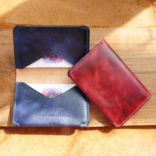 Vintage dyed light business card holder - a total of 4 colors