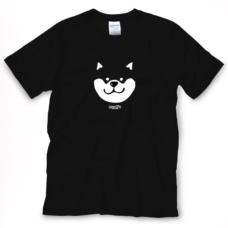 小飯糰 中性T恤 柴柴黑色短T