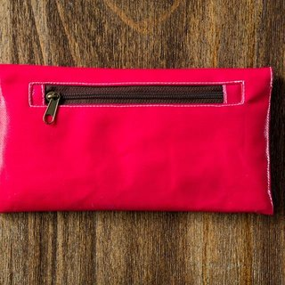 Macaron colored Wallet -Deep Pink