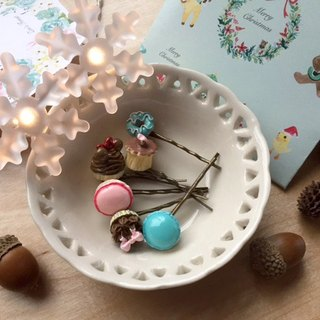 Zoe's forest Christmas dessert bronze hairpin PinkoiXmas Christmas gifts
