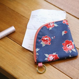 Dailylike Fan cotton key purse -04 red velvet, E2D48712
