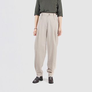 [Egg plant vintage] French breeze wool high waist vintage old pants