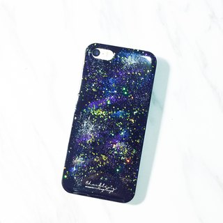 Stardust Stardust Series ll ll diffuse purple hand-painted oil painting style Phone Case
