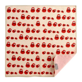 Made in Japan / Imported + ima WAFUK Soft, Cute & Unique Handkerchief - Daruma