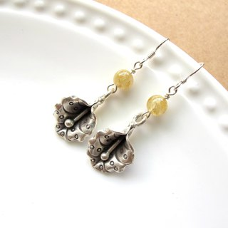 [Golden Flower] Titanium Crystal x 925 Silver - Handmade Natural Stone Series