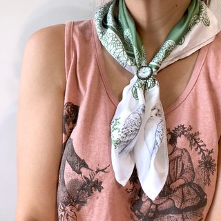 adc | party animals | green | bird | owl | imitation scarf (small)