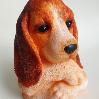 Lifelike Beagle - 3D Hand paint / Hand made Scented Beeswax Candle