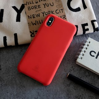 GRITTY | Liquid Silicon Stain Resistant Case for iPhone X -  Red