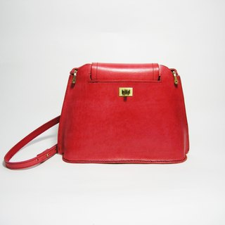 ● Ladder leather bag (red vegetable tanned leather) (side backpack, shoulder bag) __ Zuo zuo handmade leather goods